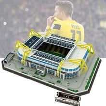 Classic Jigsaw Puzzle Architecture Signal Iduna Park Schwarz-Gelb Football Stadiums Brick Toys Scale Models Sets Building Paper