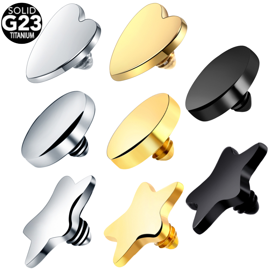 100 G23 Titanium Dermal Piercing Black Gold Dermal Anchor Top Micro Dermal Anchor Piercings Skin Diver Piercing Body Jewelry in Body Jewelry from Jewelry Accessories