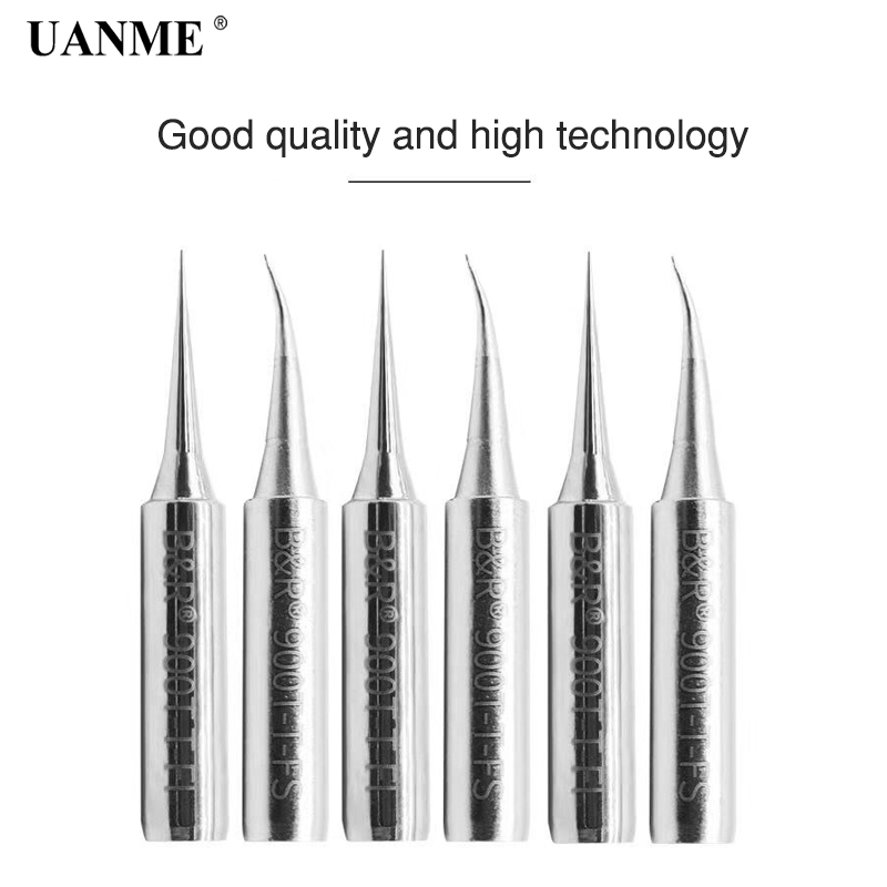 UANME 1 Piece Lead Free Solder Iron Tips Replacement T-FI T-FS Solder Iron Tips Head For Soldering Repair
