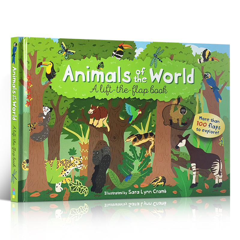 English Edition Children s Books Animals of the World Lift The Flap Book Extracurricular Reading Fiction