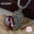 BALMORA 100% Стерлингового Серебра 925 Ювелирных Изделий Гиацинт форме Сердца Подвески для Ожерелья Женские Аксессуары Подарки Bijoux SLS10182
