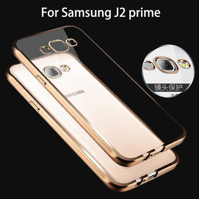 YueTuo Case For Samsung Galaxy J2 Prime J2prime G532 Silicone Tpu Rose Gold Plating Clear