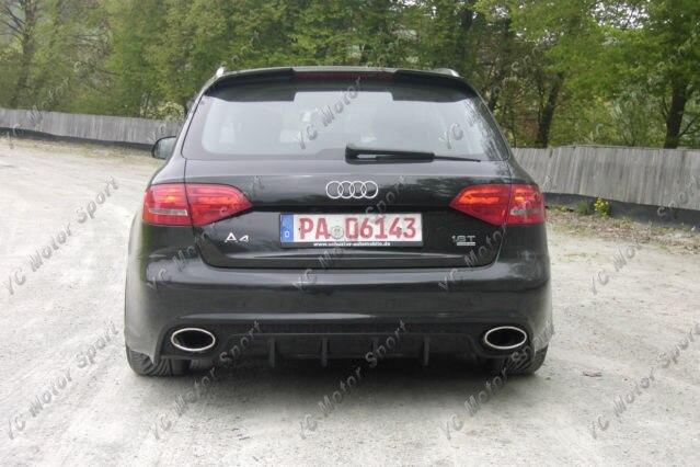 Accessoires de voiture Toit En Fiber De Carbone Spoiler Pour 2009-2013 A4 B8 Avent RS4 Conception Style Toit Spoiler Aile