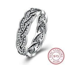 Las mujeres de la CZ Diamond Wedding Ring/Anillo de Compromiso Real de Plata de ley 925 Joyería fina Moda del Diseño del Tamaño 6 #7 #8 # anel