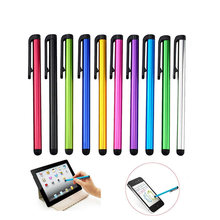 10 pçs/lote Capacitive Touch Screen Stylus Pen para iPhone 7 7 s iPad Air 2/1 Mini 2/3 Terno para Universal smart Phone Tablet PC Pen(China)