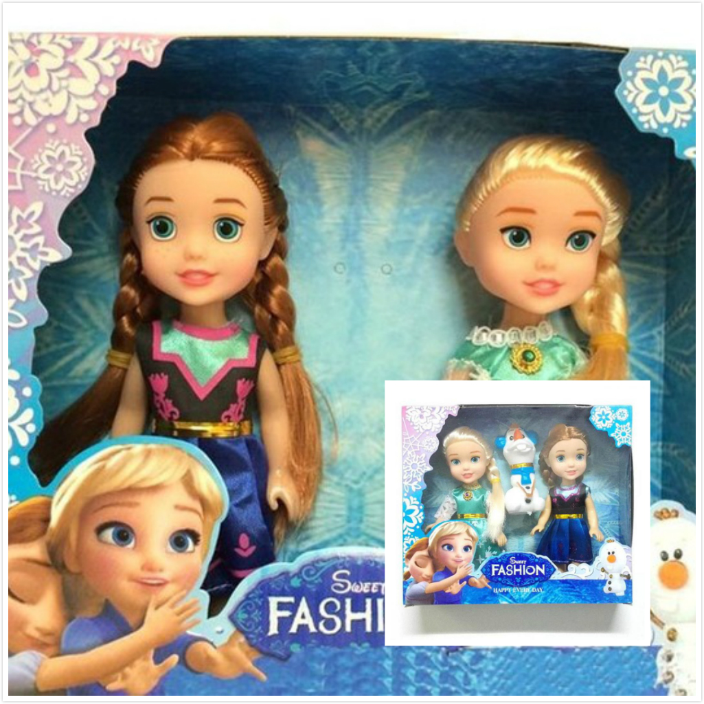 Cute Mini Kids Baby Toys Cartoon Princess Elsa Anna Olaf Dolls Toys Minecraft Toy Excellent Gift