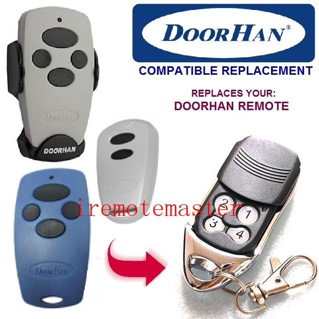 DOORHAN Replacement Rolling Code 433MHZ garage door Remote Control DHL free shipping high quality bft mitto2 mitto4 remote control raplacement 433mhz rolling code dhl free shipping