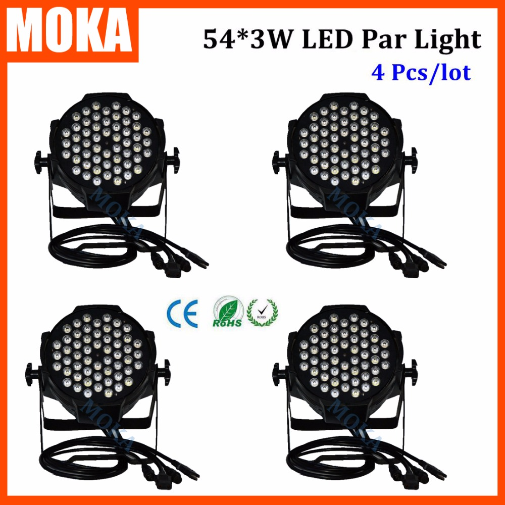4PCS/LOT 120W Led Par Light 54*3W digital screen Light DMX Stage Lighting Effect Par Led Light for Stage DJ Disco Club Party 2pcs lot 2016 dmx led par light stage lighting effect dj light rgbw 4in1 color changing light for disco dj party clubs stage