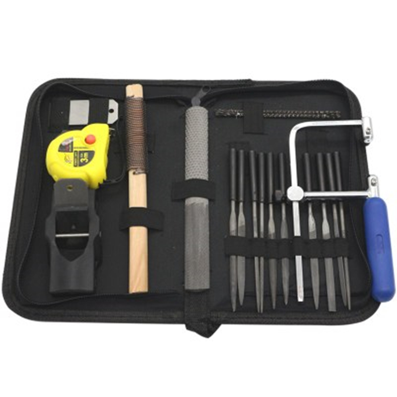 40Pcs Metal Needle Files +Curve Saws + Planer + Saw Bow Hand Tool Sets For Home DIY Folder Hobby Wood Woodworking With Bag