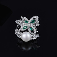 [MeiBaPJ]Real 925 Sterling Silver Green Stone Butterfly Ring for Women with AAA High Quality Colour Stones Party Fine Jewelry