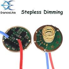 Circuit imprimé de pilote de lampe de poche LED, 17mm/6, 1 pièce, Mode de gradation en continu, avec fonction de mémoire