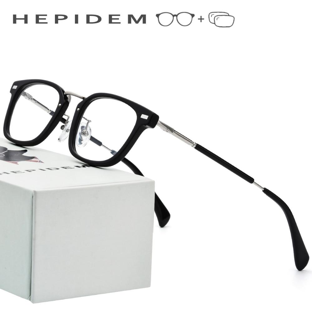 Acetate Prescription Glasses Frame Men Small Square Eyeglasses Fors Women Brand Designer New Myopia Optical Frame