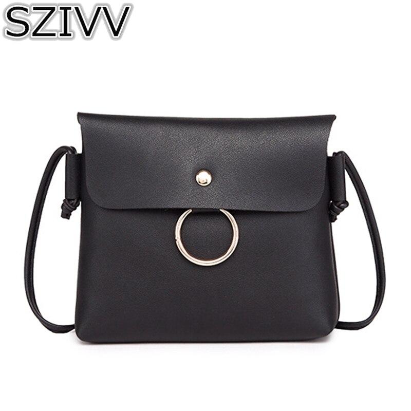 72b60e5aa Corea mujeres Crossbody bolso de cuero del bolso del diseñador de moda  embragues partido monedero señoras sólido pequeño mensajero del hombro del  ...