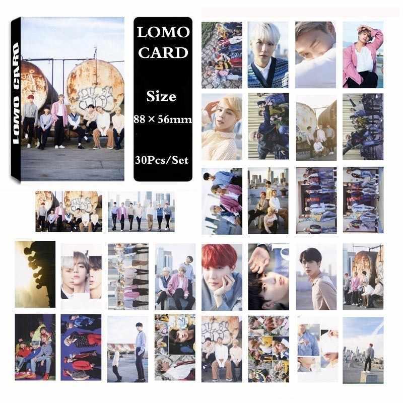 30 шт. KPOP Bangtan Boys отправка самодельная бумага Lomo карты фото карты плакат HD фотостудии игрушек, для подарка, для фанатов