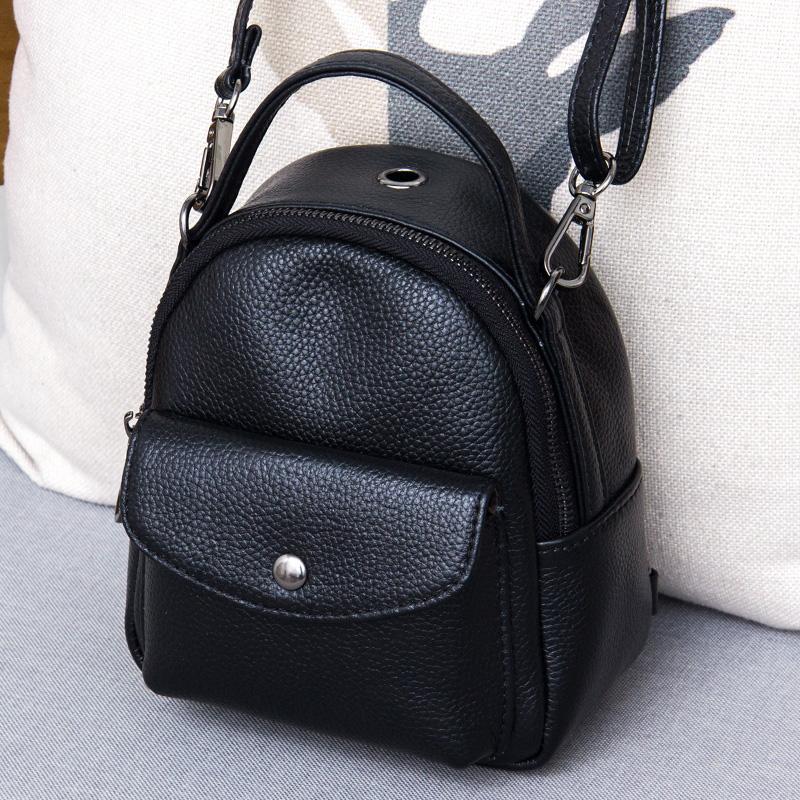 Genuine Leather Women s Mini Backpacks Bolsa Casual Girls Crossbody Bags Female School Rucksack Travel Shoulder