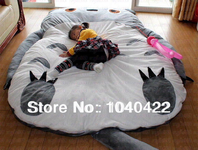 Free Shipping Giant Cartoon Sleeping Bed Mattress Totoro Bean Bag Sofa Cushion For Child Gift