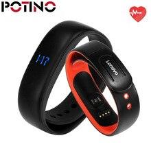 Potino Lenovo HW02 смарт-браслет 3D G-Сенсор Bluetooth 4.2 сердечного ритма монитор Шагомер Фитнес трекер для андроид iOS