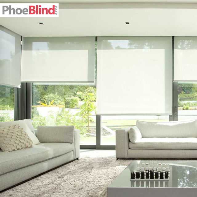 5 Openness Sunscreen Fabric Roller Blinds For Home And