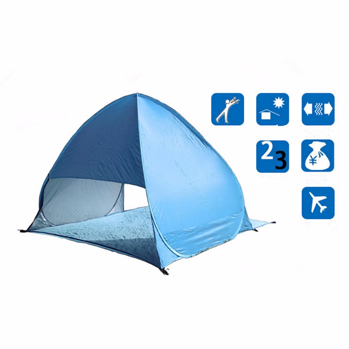 Beach Tent With UPF 40 Sun Protection camping festival shelter New