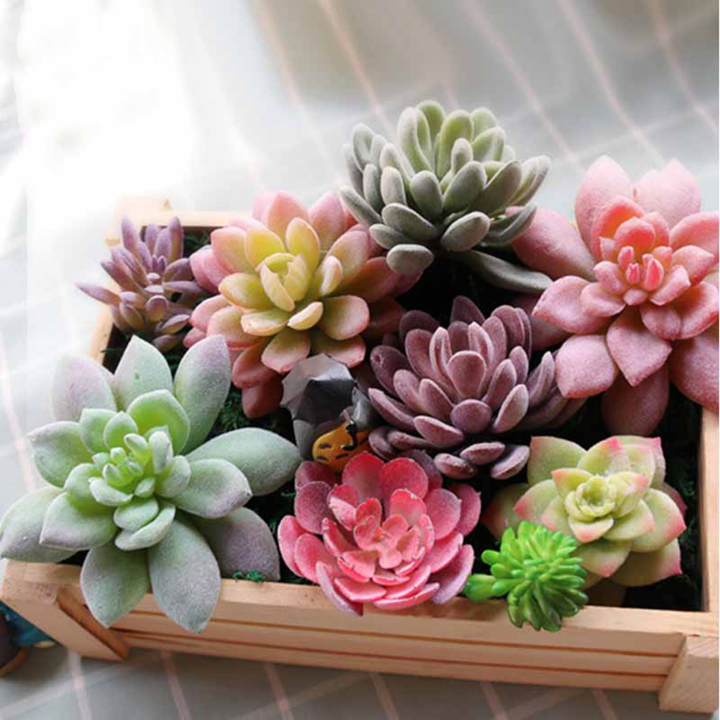 Artificial Succulent Simulation Plants Fake Aloe Cactus Landscape Lotus Flower DIY Faux Flower Creative DIY Accessories