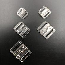 Amostra 5 conjuntos de sutiãs de plástico de alta qualidade, clipes clipes biquíni frontal, fivelas de fechamento