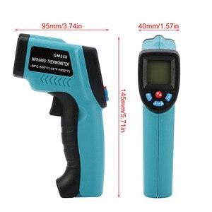 Image 2 - דיגיטלי מדחום אינפרא אדום 50 ~ 550 C Pyrometer אקווריום לייזר מדחום אקדח חיצוני מדחום LED אחורי אור