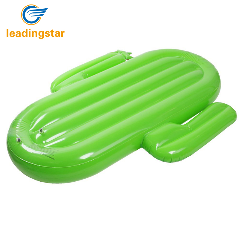 Leadingstar Adults Giant Pool Float Inflatable Cactus Floating Mattress Lounger Water Sport Buoy Beach Toys Fun Raft 180 150cm giant inflatable pizza swimming pool float summer water toys outdoor fun toy beach resting lounger air mattress raft