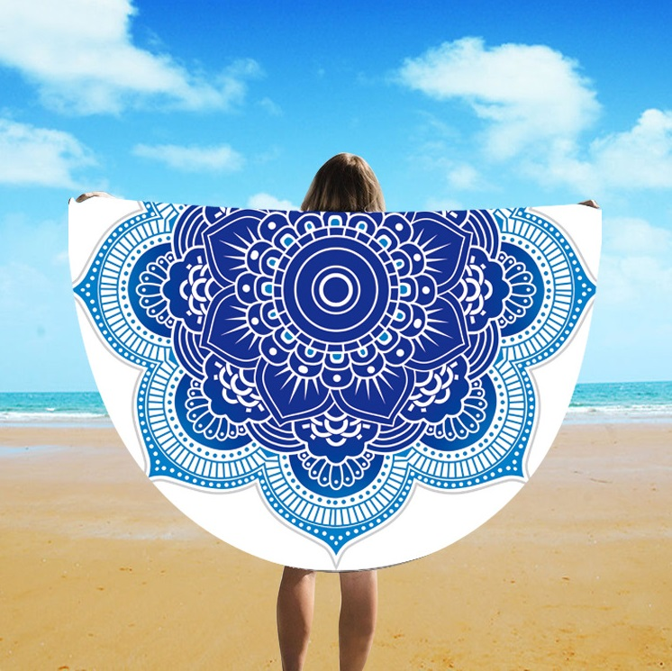 European And American Fringe Round Bath Towel Yoga Mat Colorful Beach Towel Blanket Suntan Beach Towel St06-110
