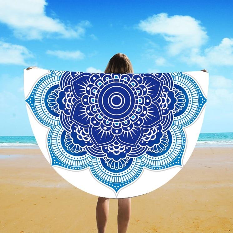 European And American Fringe Round Bath Towel Yoga Mat Colorful Beach Towel Blanket Suntan Beach Towel St06-110