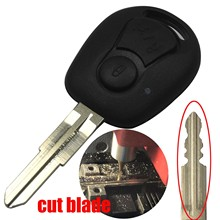 Copy Cut/uncut Blade 2 Buttons New Remote Replacement Car Key Shell Housing for Ssangyong Actyon Kyron Rexton Holder