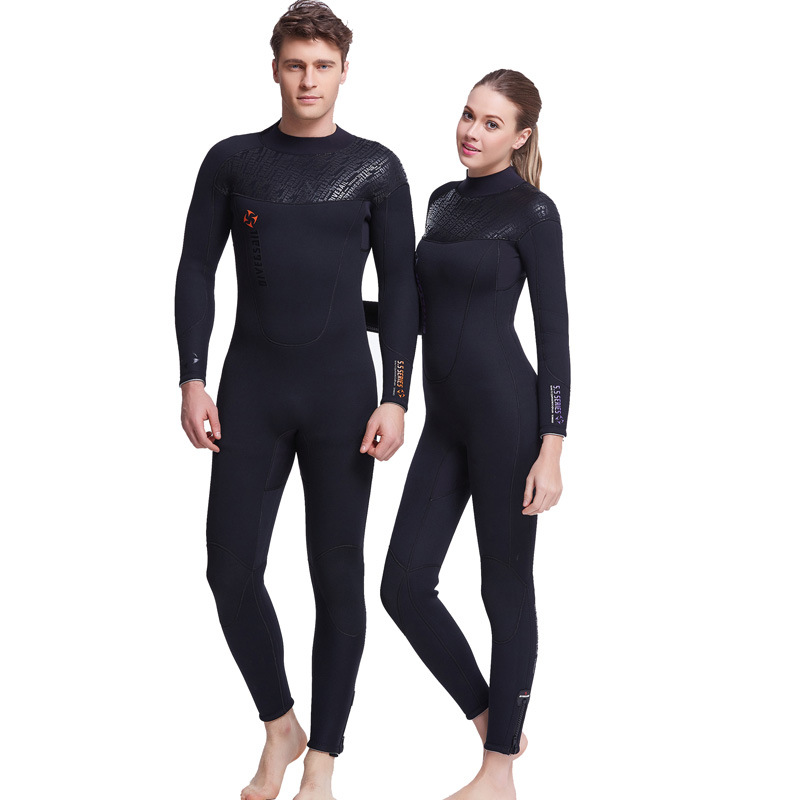 цены на DIVE&SAIL Neoprene Wetsuit Surf Women Snorkeling Wetsuits Men Surfing Suit for Women Diving Suit 5mm Full Swimsuit Spearfishing