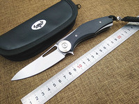Utility Folding Knife D2 Blade Steel G10 Handle Camping Tactical Survival Knife Pocket Knives Ball Bearing