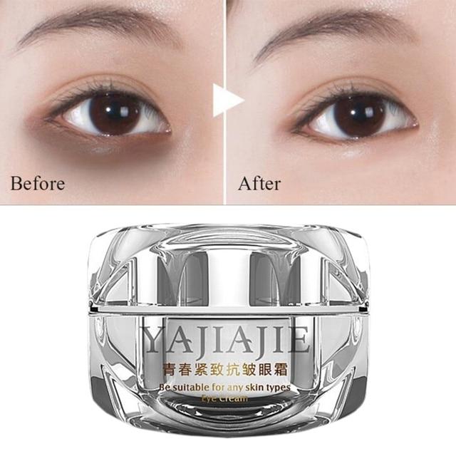 Antiedad antiarrugas crema hidratante para los ojos eliminar las bolsas de ojos lucha contra los Círculos oscuros eliminar el Edema Crema para los ojos