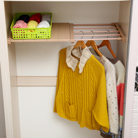 Wardrobe Storage Rack Board Layered Partition Board Kitchen Cabinet Telescopic Retractable Closet Organizer Bathroom