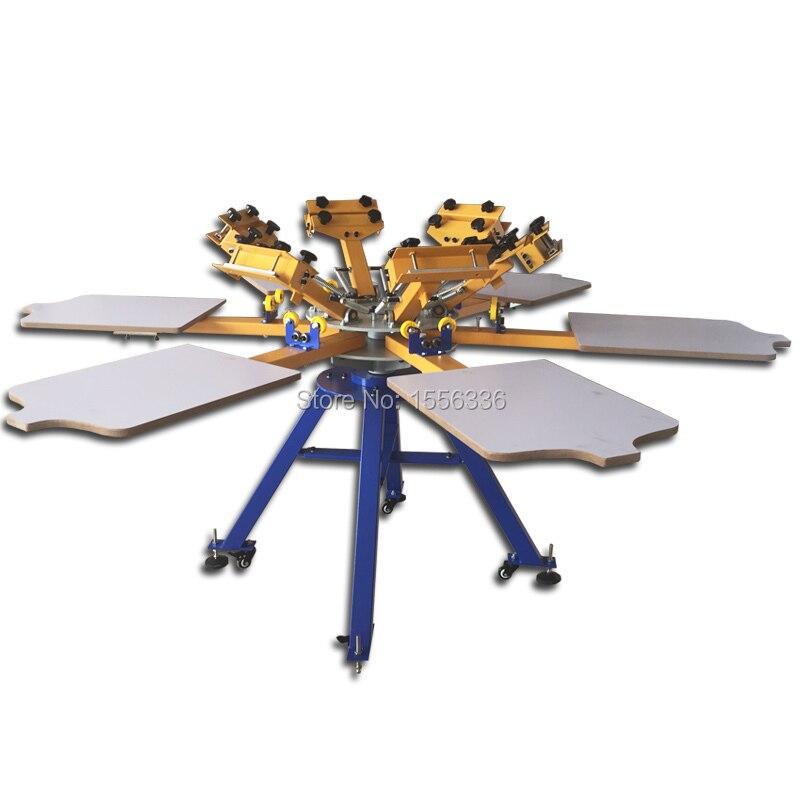 Silk Screen Printing Machine 6 Color 6 Stations For T-shirt  Screen Printer