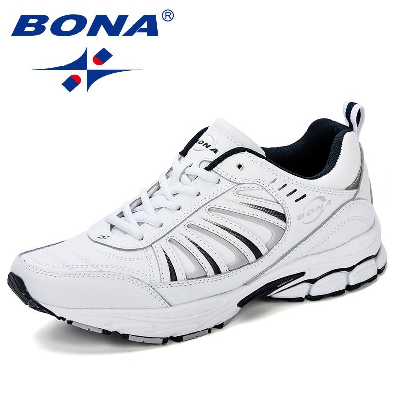 BONA hommes chaussures respirant chaussures de course hommes baskets chaussures de Sport en plein air confortable professionnel chaussures de Sport hommes formateurs