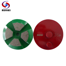 RIJILEI 12 PCS 80mm Metal diamond grinding cup wheel 3inch Diamond Grinding Disk for Concrete Floor grinder shoes T40B