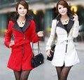 Горячая! Женщин зимой теплый длинное пальто тонкий молния Turtlen с длинным рукавом корейских мода женские кашемировые шерстяные куртки