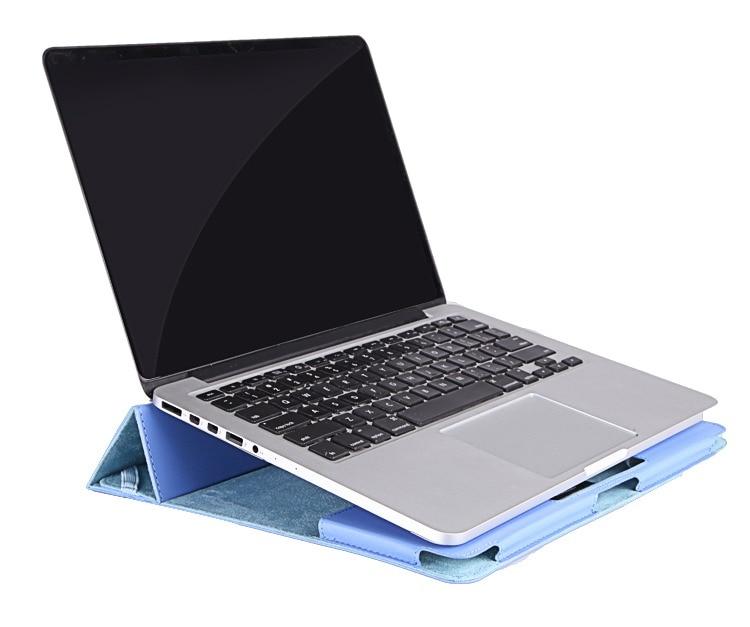 Étui de protection + support pour Apple étui pour ordinateur portable MacBook Pro 13 15 pouces coque d'ordinateur Air11-inch étui en cuir pliant