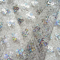 90cm 120cm New Fashion Shining Sequins Net Fabric French Glitter Dancewear Prom Dresses Handmade Home Living