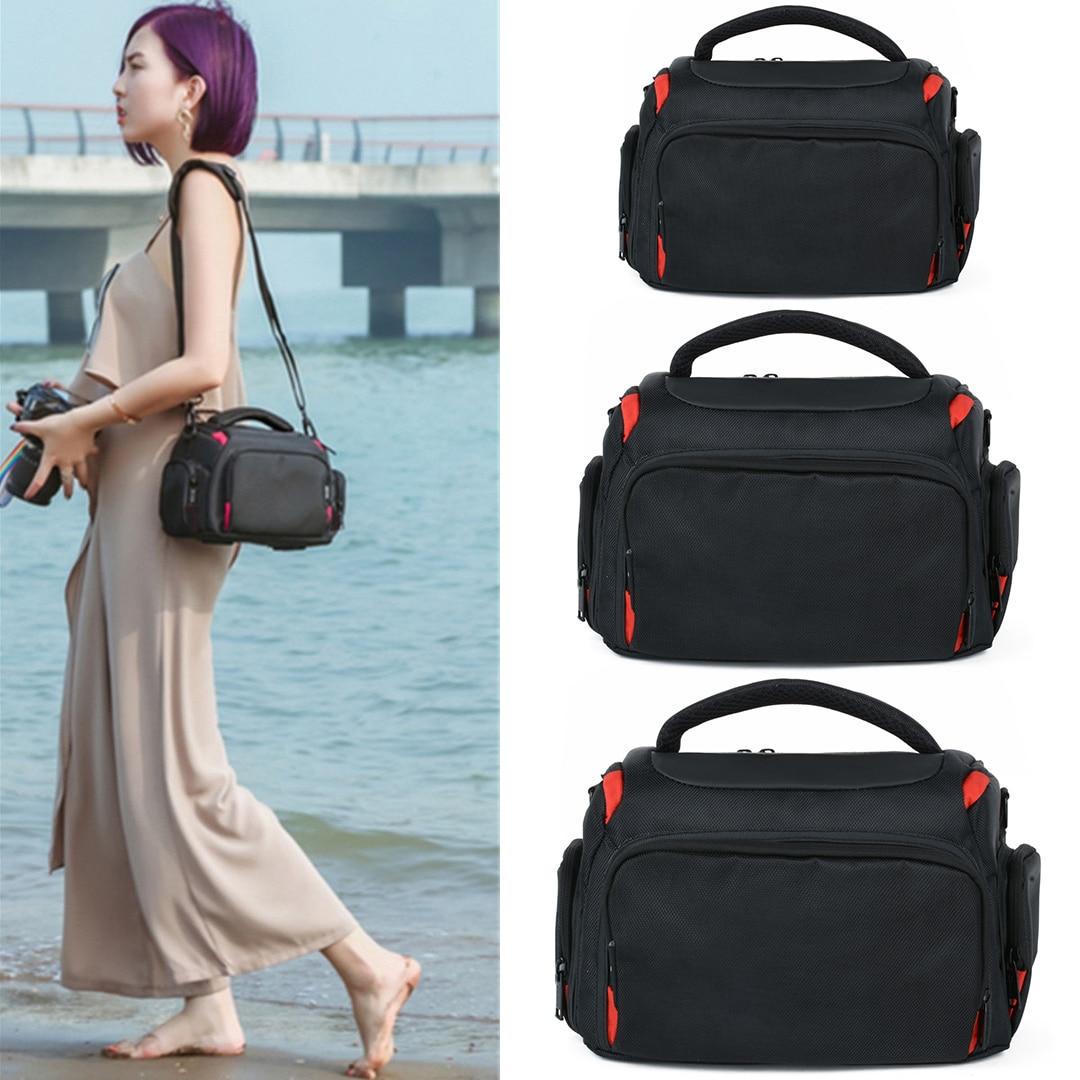 New Nylon Camera Shoulder Bag Portable Camera Carrying Case Bag 3 Sizes For Canon Nikon Camera