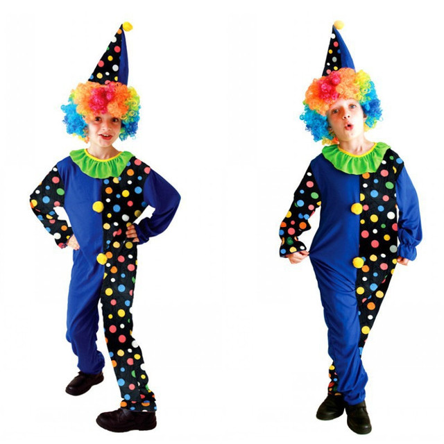 New M-XL Children Halloween Joker Costumes Boys circus clown Cosplay Kids droll Role play  sc 1 st  AliExpress.com & New M XL Children Halloween Joker Costumes Boys circus clown Cosplay ...