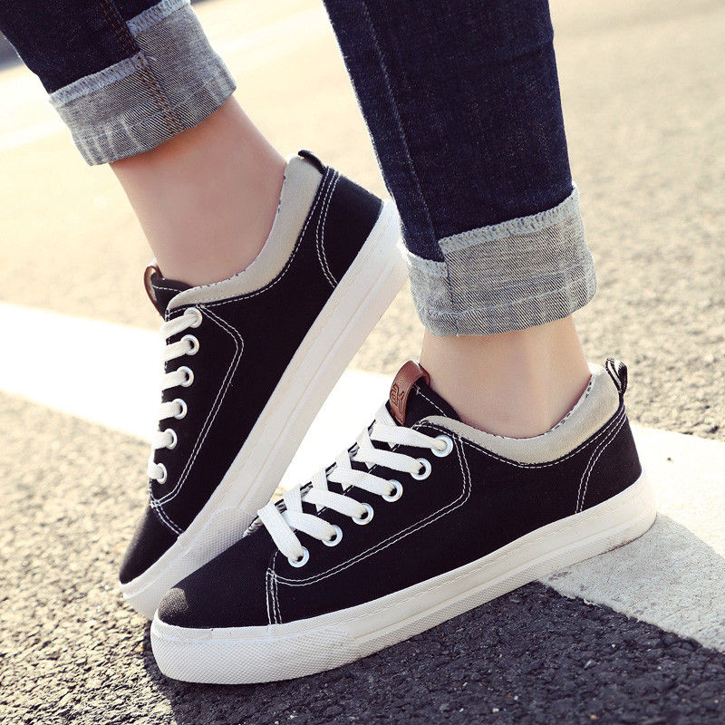 Women Canvas Sneakers Summer Skateboard Shoes Trainers Lace Up Casual Shoes Basket Femme Zapatos Mujer men casual shoes summer pu leather sport flat walking lace up shoe mens trainers basket zapatilla hombre comfortable sneakers