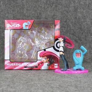 Image 3 - Anime Figuur Speelgoed Charmander Misty Psyduck Togepi Team Rocket Jessie James Meowth Brock Vulpix Geodude Model Poppen