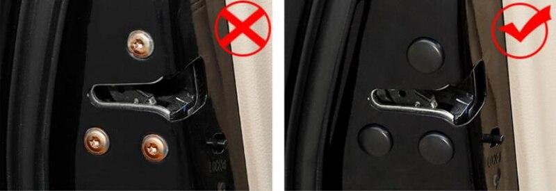 Для Solaris Santa Fe I30 Creta Автомобильный Дверной замок Винт водонепроницаемый чехол для hyundai Tucson Elantra Creta IX25 IX35 Sonata