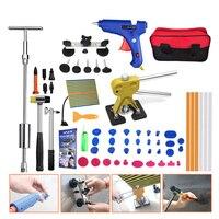 62pcs Dent Removal Kit Reflector Board Dent Puller Glue Sticks Hand Tool For Car Paintless Dent Repair