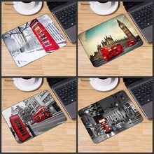 Yuzuoan New Designs london bus england telephone Large Mouse pad PC Computer mat Size for 22x18cm 25x20cm 29x25cm Resistant Dirt(China)