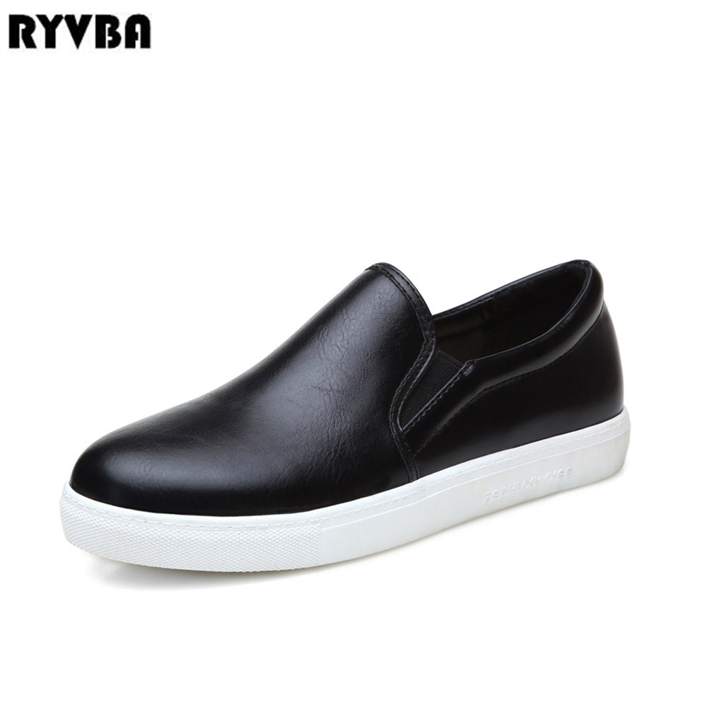 RYVBA Women round toe loafers 2018 spring autumn suede nubuck shoes for woman round toe flats womens causal shoes ladies flat