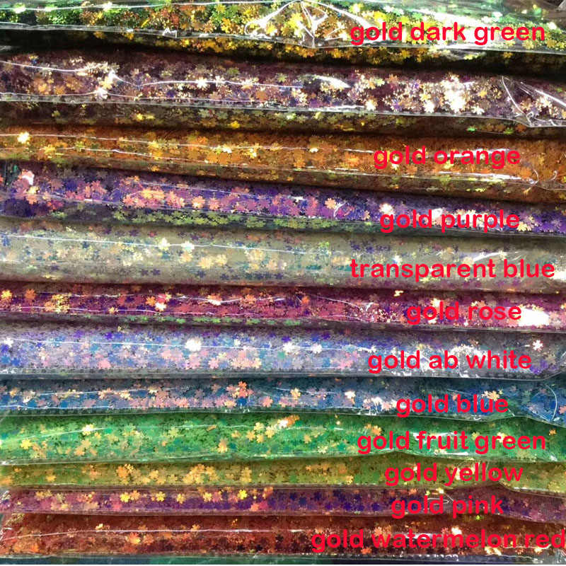 CHERRY Blossoms เลื่อม 5 มม.ดอกไม้ PVC หลวม Glitter Sequin Paillettes สำหรับเล็บเล็บศิลปะงานแต่งงาน Confetti 20g