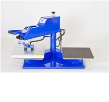 double stations manual heat transfer label printing machine with worktable size:16x 20inch